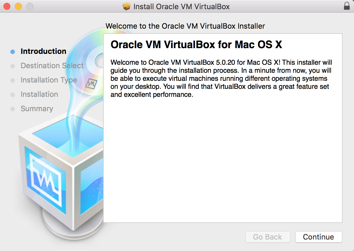 Step 2: Installing VirtualBox in Mac