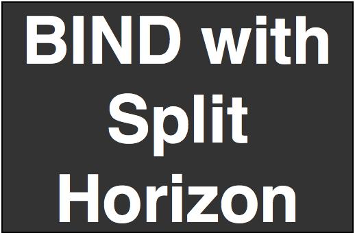 Bind with Split Horizon