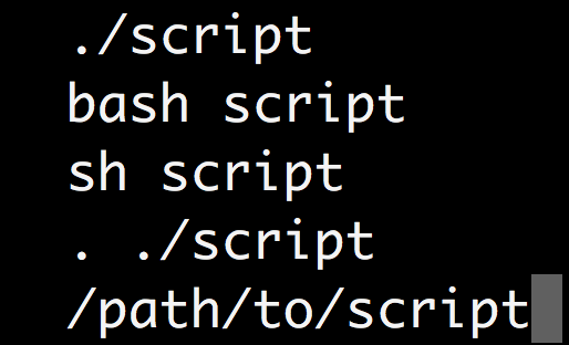 Executing a Shell Script in Linux