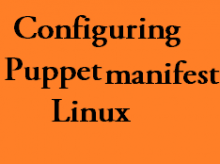 puppet manifests in linux